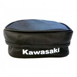 KAWASAKI KDX GENUINE LEATHER SMALL REAR FENDER TOOL BAG BLACK