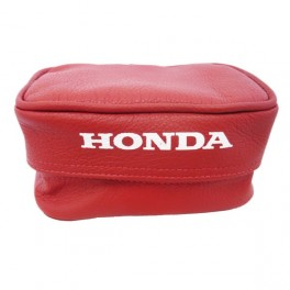 HONDA GENUINE LEATHER REAR FENDER TOOL BAG SMALL RED