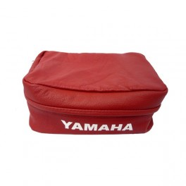 YAMAHA XT  GENUINE LEATHER REAR FENDER TOOL BAG RED