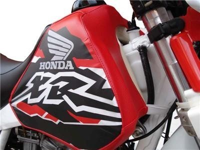 HONDA TANK COVER RED MOD1 SILVER